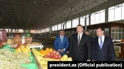 İ.Əliyev Gəncədə «Grand Qafqaz» Ticarət Kompleksinin açılışında