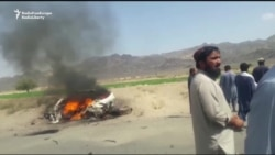 Video Purports To Show Mansur's Car In Flames