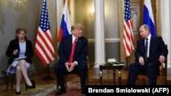 File Photo - Russian President Vladimir Putin and U.S. President Donald Trump met last year in Helsinki, July 16, 2018