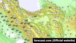 وضعیت آب و هوای ایران در روز دوشنبه