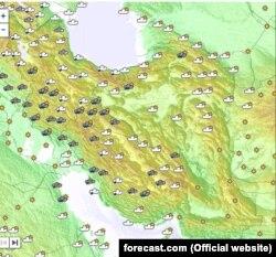 وضعیت آب و هوای کشور در روز دوشنبه