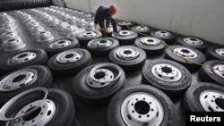 Fabrika automobilskih guma u Kini (fotoarhiv)