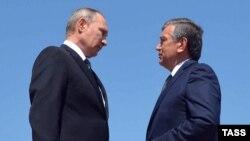 Шавкат Мирзиеев c российским президентом Владимиром Путиным, Самарканд, 6 сентября 2016