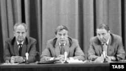 Пресс-конференция членов ГКЧП в Москве, 19 августа 1991 года.