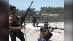 İraq ordusunun İŞİD yaraqlıları ilə döyüşdüyü vaxt çəkilən video