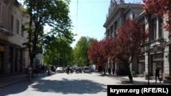 Участок улицы Пушкина в Симферополе, где планируется проведение реконструкции