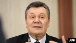 Former Ukrainian President Viktor Yanukovych fled to Russia in February 2014. (file photo)