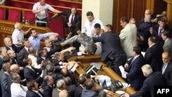 Dhuna në Parlamentin e Ukrainës, 24 maj 2012.