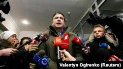 Михаил Саакашвили, Грузияның бұрынғы президенті, украиналық саясаткер. Киев, 18 желтоқсан 2017 жыл