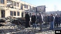 Манастирот Трескавец после пожарот.