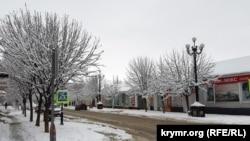Снег в Керчи, 7 января 2019 год