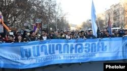 """Martın 29-da Yerevanın mərkəzində """"Sülh yürüşü"""" keçirilib"""