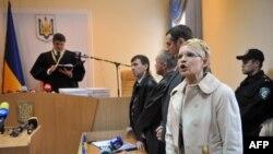 Экс-премьер-министр Украины Юлия Тимошенко в зале суда. Киев, 11 октября 2011 года.