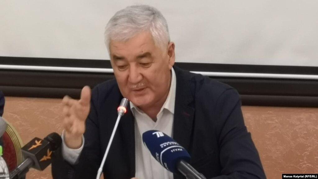 """Ämirjan Qosanov """"Wlt tağdırı"""" qozğalısınıñ jiınında. Almatı, 26 säuir 2019 jıl."""