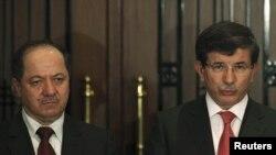 مؤتمر صحفي لبارزاني واوغلو الخميس 3 تشرين2