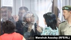 В зале суда в Алматы по «Хоргосскому делу».
