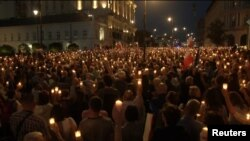 Proteste la Varșovia împotriva reformei judiciare, 18 iulie 2017