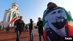 """Орусия -- """"Биримдик күнүнө"""" арналган митингдин катышуучулары. Иваново шаары, 4-ноябрь, 2014."""