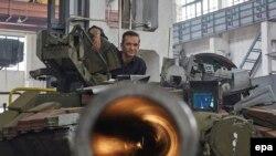 Ukraynada tank zavodu.