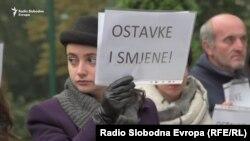 Protest zbog ubistva dvije studentkinje na pješačkom prelazu u Sarajevu