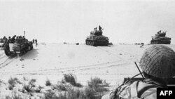 Израильская армия в Синае в июне 1967 г.
