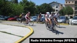 Biciklisti stižu u Mostar, foto: Mirsad Behram