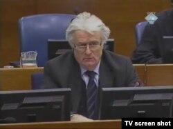 Radovan Karadžić u sudnici, 31. siječanj 2012.