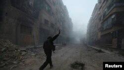 Повстанец на улицах Дамаска. Иллюстративное фото.