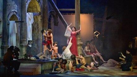 Scenă din Tannhäuser la Opera din Novosibirsk