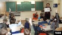 Урок математики в школе Латвии. Архивное фото.