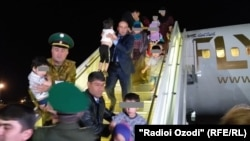 On April 30, a plane arrived in Dushanbe from Iraq carrying 84 children whose parents had joined the Islamic State militant group.