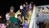 "84 çagany alyp gelýän ""Fly Erbil"" uçary 30-njy aprel güni Duşenbede gondy."
