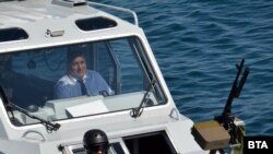 """Премиерът Бойко Борисов по време на националното военноморско учение """"Бриз 2019"""""""