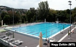 A Hegyvidéki sportközpont úszómedencéje Budapesten, 2021. május 20-án. (Képünk illusztráció)