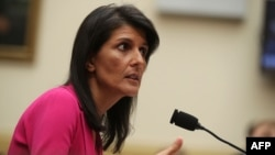 U.S. Ambassador to the United Nations Nikki Haley - File photo