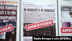 Plakati protiv zakona o amnestiji, Priština, juli 2013.