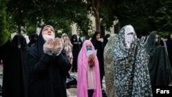 Eid al-Fitr prayers at Tehran University, May 23, 2020.
