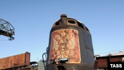 """Рубка затонувшей субмарины """"Курск"""" на территории промзоны завода в Мурманске"""