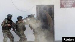 Во время антитеррористических учений в Кыргызстане. Иллюстративное фото.
