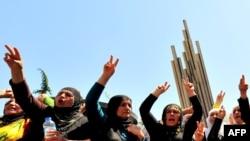Քուրդ կանայք հակակառավարական կոչեր են հնչեցնում, Ստամբուլ, Թուրքիա, արխիվ