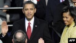 Presidenti amerikan duke dhënë betimin