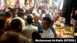 سوق باب السراي وسط الموصل ليلة عيد الفطر