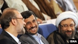 The letter has been sent to several senior Iranian officials, including the head of the judiciary system, Ayatollah Sadegh Larijani (far right).