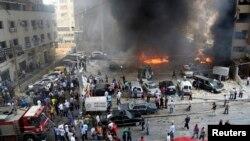 موقع إنفجار السيارة المفخخة في ضاحية بيروت الجنوبية