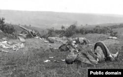 Imagine de pe câmpul de luptă de la Turtucaia, august-septembrie 1916