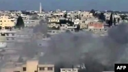 Горящие жилые кварталы - будни сирийских городов