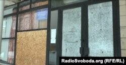 Забитий дошками Будинок культури в селі Макарів Яр