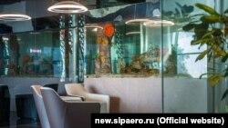 Аквариумы в вип-зале аэропорта «Симферополь»