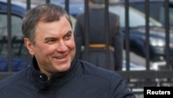 Russian Duma Speaker Vyacheslav Volodin (file photo)