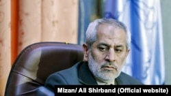 Prosecutor General of Tehran Abbas Jafari-Dolatabadi, in a meeting in Tehran on Saturday May 5, 2018.